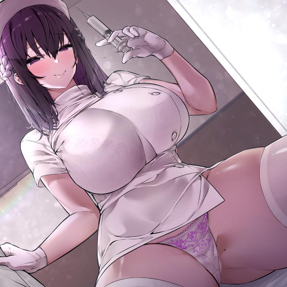 【KU100】ドスケベ巨乳ナースさんがチンカス汚ちんぽにご奉仕してくれるお話♪ 体験版